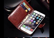 Teléfono Móvil Funda Cuero Cover Flip Case Piel Trasera Smartphone iPhone X