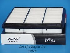 Lot of 4 Engine Air Filter SA4715 Fits: Dodge & Mitsubishi