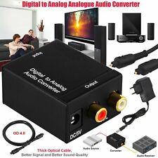 Digital zu Analog Stereo Audio Konverter mit Optischem Kabel für PS3, PS4, HD TV