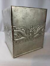 Croscil Tissue Box Cover - Canterbury -51 Silver -  BED Bath & Beyond -Free Ship
