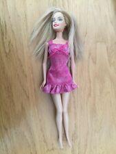 Barbie Doll Pink Glitter Dress Blonde Hair