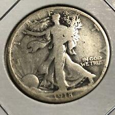 1918 SILVER WALKING LIBERTY HALF DOLLAR NICE COIN