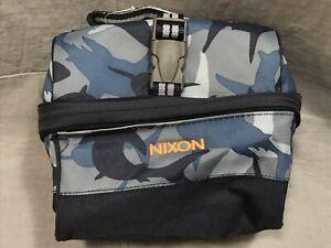 Pottery Barn Kids Navy Camo Shark Mackenzie Retro Lunch Bag NIXON Monogram
