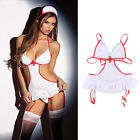 Hot Sexy Women Nurse Doctor Uniform Costume Lingerie Halloween Cosplay Dress