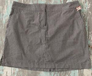 14 Izod Golf Women's Black White Check Skort Skirt Shorts New NWT