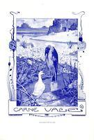 Carne Vale XL Kunstdruck 1907 von Georg Tippel * in Stettin Karneval Maske Ente