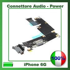 Flex Flat Dock Connettore Ricarica Microfono Jack Cuffie per IPHONE 6 NERO