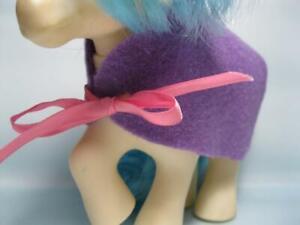 FELT/RIBBON SADDLE Blanket for vintage My Little Pony G1 Majesty's DREAM CASTLE