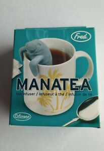 Fred Manatea Manatee Tea Infuser Gray Silicone New in Box Novelty Gag Gift