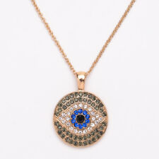 Dark Blue Evil Eye Pendant Necklace Turkish Jewelry Turkey Sweater Chain Charm