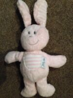 SAINSBURYS Pink Bunny Rabbit My First Friend Comforter Soft cuddly plush Toy A7
