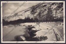 BRESCIA PONTE DI LEGNO 80 INVERNO NEVE Cartolina VIAGGIATA 1933 REAL PHOTO