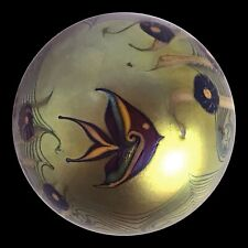 "ORIENT & FLUME ART GLASS #149 ""Angelfish on Gold"" Paperweight (1976) Signed WOW!"