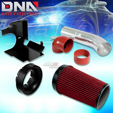 FOR 99-06 GMT800 CHEVY/GMC/CADILLAC V8 AIR INTAKE PIPE RED FILTER+HEAT SHIELD
