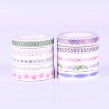 DIY 10 Roll 10M Hand Painted Washi Tape Scrapbooking Craft Paper Sticky Random