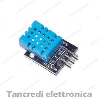 MODULO SCHEDA DHT11 SENSORE UMIDITA AMBIENTE TEMPERATURA (Arduino-Compatibile)