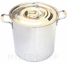 20L COMMERCIAL STOCK POT WITH LID STAINLESS STEEL SAUCE HOME BREW BEER