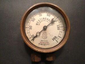 Antique Westinghouse Ashcroft Mfg. Steampunk Steam Pressure Gauge