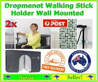 2x Dropmenot Walking Stick Umbrella Cane Holder Attaches to wall