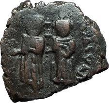 HERACLIUS & Son H Constantine Genuine 610AD Ancient Byzantine Follis Coin i66092