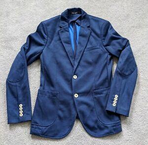 Zara Mens Blue Blazer - Size 36 - Skinny Fit