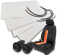 2X UNIVERSAL HEATER PAD HEATED SEAT KIT+ROUND HI/MID/LOW SWITCH FREESTYLE