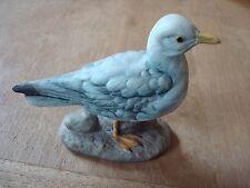 """VINTAGE MATT PORCELAIN WATER BIRD ORNAMENT WITH ROCK DESIGN APPROX. 3.5"""" TALL"""