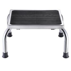 Durable Steel Step Stool Clinic Medical Bathroom Kitchen Safety 500lbs Capacity