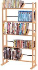 Storage CD DVD Organizer Multimedia Tower Rack Cabinet Movie Music Shelf Stand