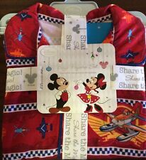 Disney Store Planes Fire and Rescue Boys 2 pc Cozy Pajamas Sleepwear Red Size 2