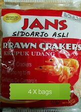 4 X Prawn Crakers (Sidoarjo Asli)-Krupuk Udang (Indonesia Thick Style) 8.75 oz