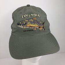 Columbia Sportswear Hat Fish Logo Mike Stidham Lightweight Gray Dad Cap