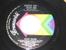 JACKIE WILSON~SQUEEZE HER TEASE HER~1964 BRUNSWICK 55269~100 MPH DANCER~UNPLAYED