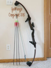 "VINTAGE BEAR WHITETAIL HUNTER COMPOUND BOW 50# @ 31"" LEFT HAND 1 PIN SITE ARROWS"