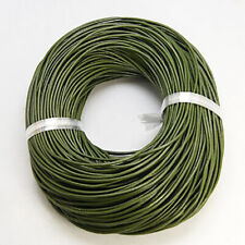 2 Metres Real Leather Cord 2mm Olive Green Bracelet Necklace Jewellery Making