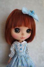 Cute Handmade Blythe Doll Outfit Blythe Dress Pullip Dress Azone Lolita Blue