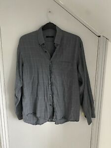 Jaeger Mens Grey Check Shirt Size XL