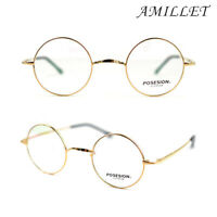 Eyeglass Frames Pure Titanium Vintage Round Glasses Optical Rx Ultralight