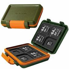ELECOM memory card case Holds impact SD 8 sheet MicroSD8 Khaki color Japan F/S