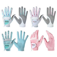 Women's Left Right Hand Soft Breathable Golf Gloves Non Slips Sports Gloves Pair