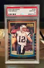 2000 Bowman Tom Brady (New England Patriots) RC Rookie PSA 10 GEM MINT #236