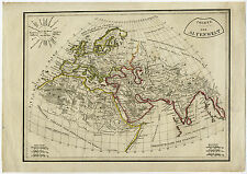 Antique Map-OLD WORLD-EUROPE-AFRICA-ASIA-1800