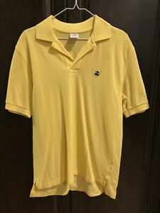 Men's Brooks Brothers Yellow Gold Polo Small