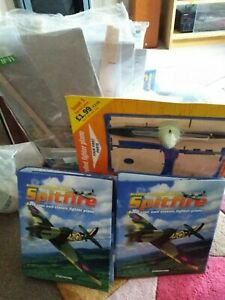 DEAGOSTINI RADIO CONTROLLED SPITFIRE 1/10 Scale. 58 of 60 Issues + parts, engine