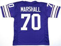 NWOT Jim Marshall Minnesota Vikings Purple NFL Football Sewn #70 Mens Jersey L