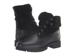 Women's Shoes Timberland JAYNE TEDDY FLEECE Fold-Down WP Boots A1SGK BLACK