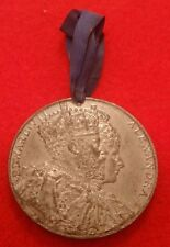BRITISH CORONATION MEDAL FOR KING EDWARD VII AND QUEEN ALEXANDRA 1902 SHEFFIELD