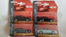 MAJORETTE X4 CARS,CITROEN C5,RENAULT MEGANE COUPE,PORSCHE GT3,PORSCHE PANAMERA.
