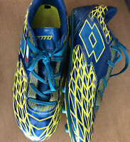 Lotto Forza II Soccer Cleats Metallic Blue And Lime Green Mens Size 6.   S-11