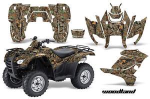 ATV Graphics Kit Decal Sticker Wrap For Honda Rancher AT 2007-2013 WOODLAND CAMO